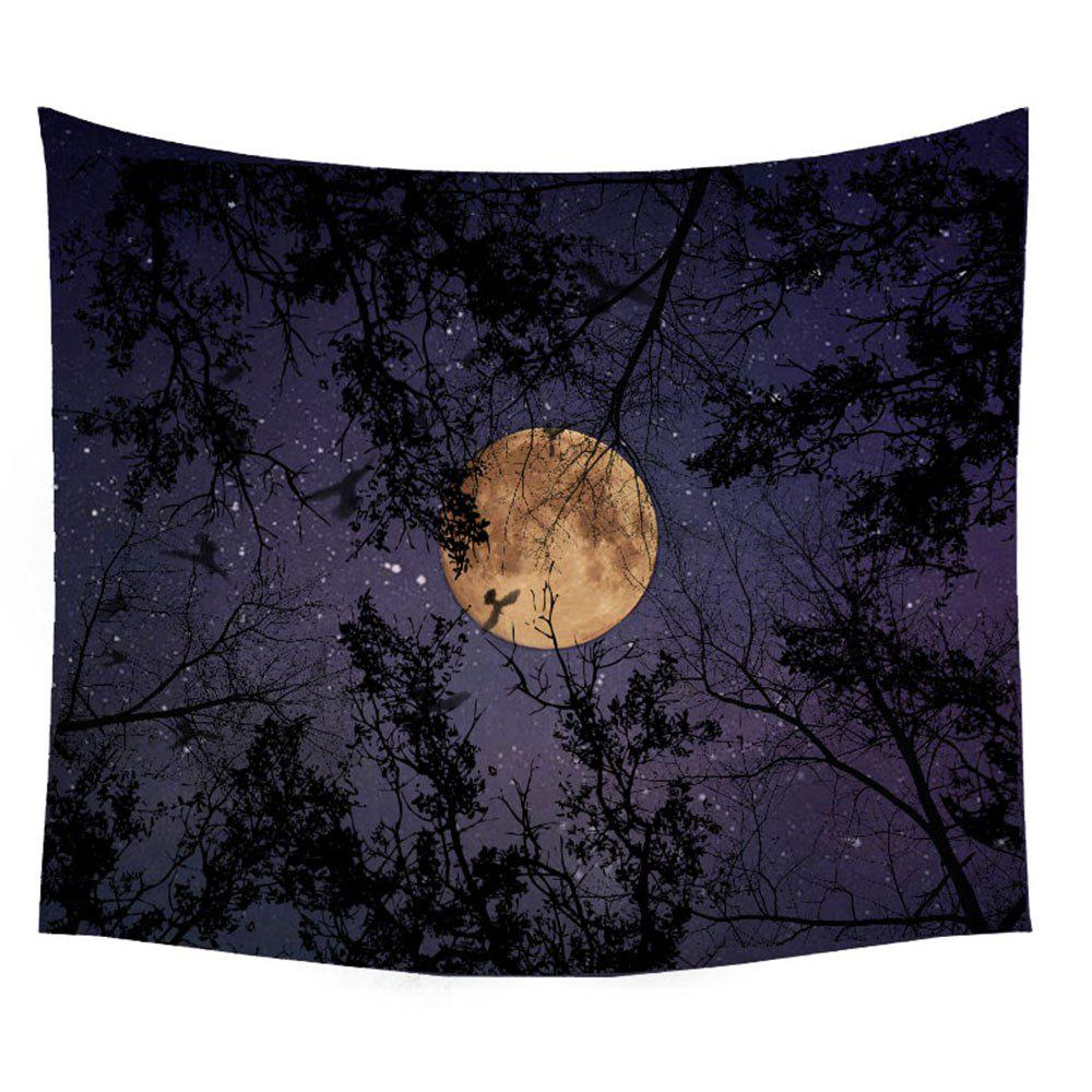 Outfit Wolf Tapestry Wall Hanging  of the Forest at Night Adornment Sofa Blanket Tablecloth Bedspread