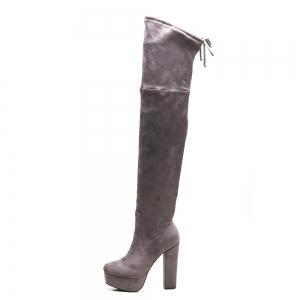 Tie Back Side Zipper Platform Boots -