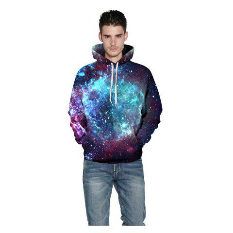 Discount Men 3D Space Galaxy Hoodie