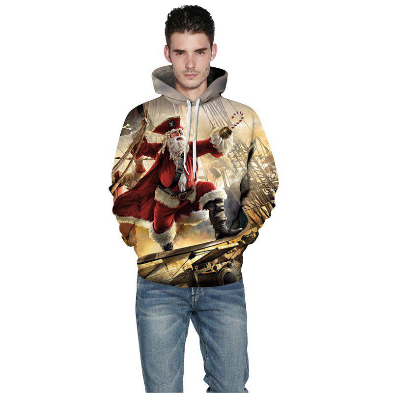 Fancy Pirate Santa Claus Both Sides Printed Fashion Christmas Clothing Mens Hoodies