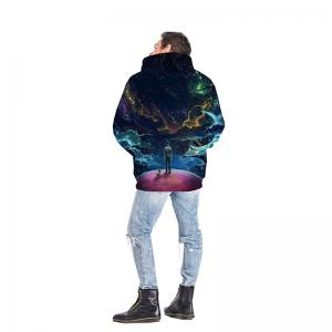 3D Stars Moon Galaxy Space Hoodies for Men -