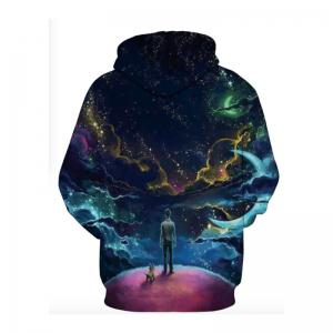 3D-звезды Moon Galaxy Space Hoodies для мужчин -