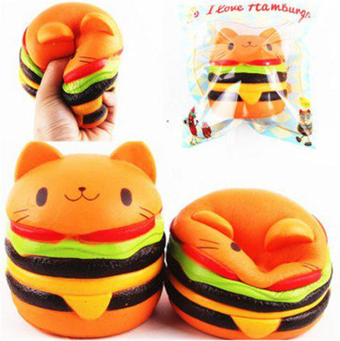 Jumbo Squishy Cat Burger Slow Rising douce collection animale cadeau Decor jouet emballage d'origine