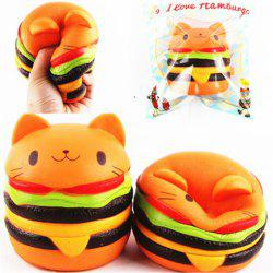 Jumbo Squishy Cat Burger Slow Rising douce collection animale cadeau Decor jouet emballage d'origine -