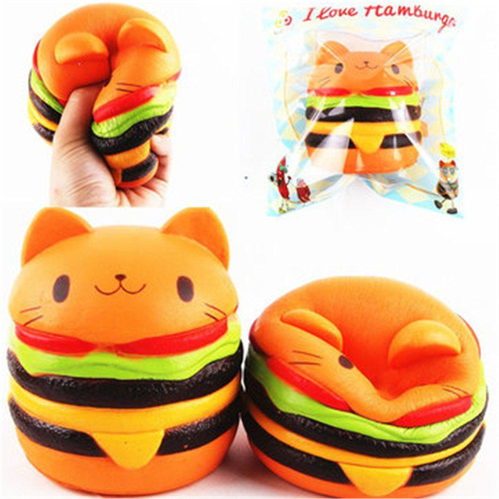 Best Jumbo Squishy Cat Burger Slow Rising Soft Animal Collection Gift Decor Toy Original Packaging
