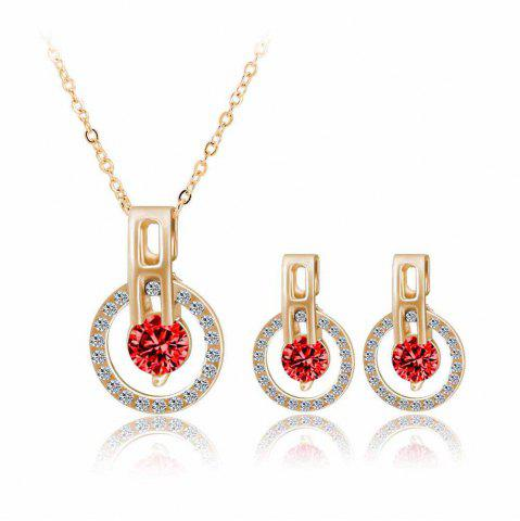 Mode Minimaliste Zircon Starry Sky Collier Boucles d'oreilles Set