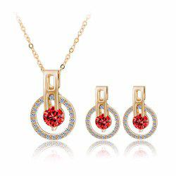 Mode Minimaliste Zircon Starry Sky Collier Boucles d'oreilles Set -