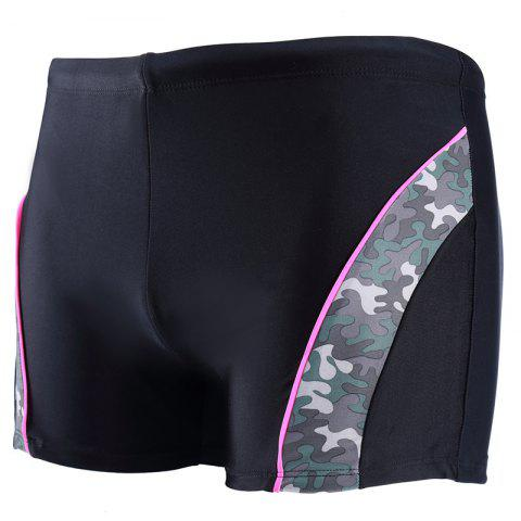 Daifansen Fashion Camouflage Arc Stitching Beach Boxer Troncs