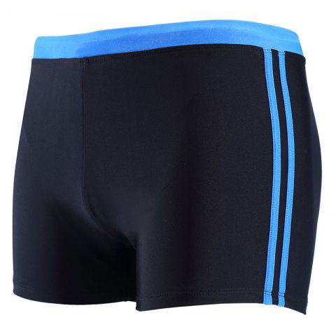 Latest Daifansen The New Black Stripe Mosaic Leisure Quick Dry Beach Boxer Trunks