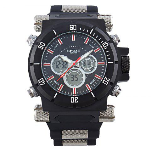 Unique EPOZZ 2813 Men Dual Display Watch Classic Fashion Alarm Waterproof