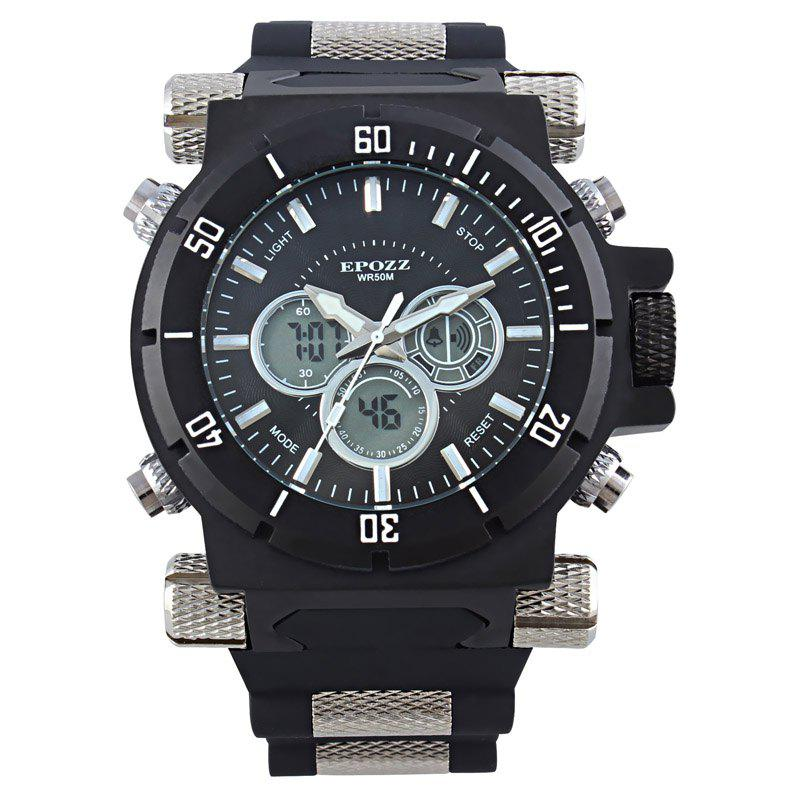 Store EPOZZ 2813 Men Dual Display Watch Classic Fashion Alarm Waterproof