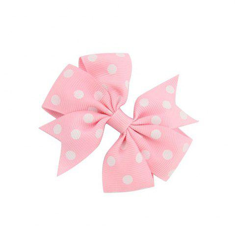 Dotted Ribbed Bow Tie Hairpin