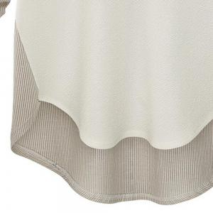 Plus Size Round Collar Long-Sleeved T-Shirt -