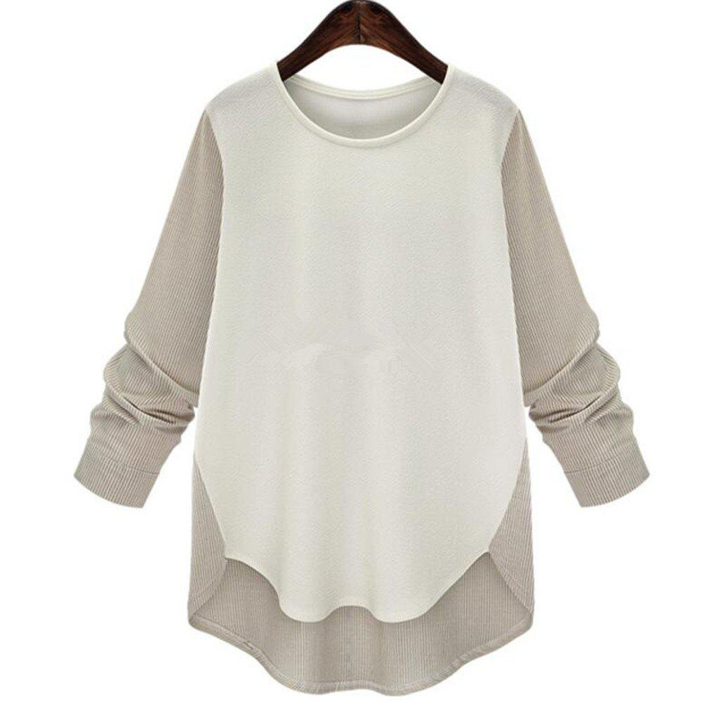 Best Plus Size Round Collar Long-Sleeved T-Shirt