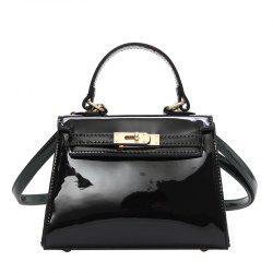 Fashion Patent Leather Hand-Shoulder Messenger Bag -