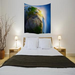 The light of Creation 3D Digital Printing Home Wall Hanging Nature Art Fabric Tapestry for Bedroom Living Decorations -