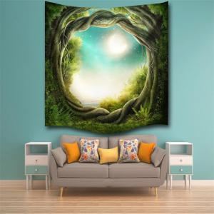 Fantasy Forest 3D Digital Printing Home Wall Hanging Nature Art Fabric Tapestry for Bedroom Living Room Decorations -