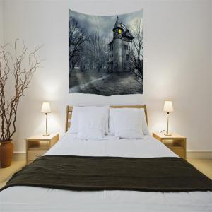 A Mysterious Castle 3D Digital Printing Home Wall Hanging Nature Art Fabric Tapestry for Bedroom Living Room Decorations -