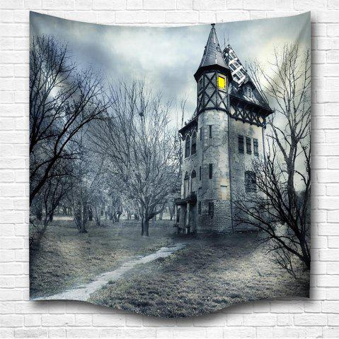 Discount A Mysterious Castle 3D Digital Printing Home Wall Hanging Nature Art Fabric Tapestry for Bedroom Living Room Decorations
