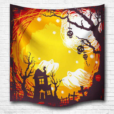 Store The Skeleton Ghost 3D Digital Printing Home Wall Hanging Nature Art Fabric Tapestry for Bedroom Living Room Decorations