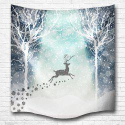 Hakodate Reindeer 3D Digital Printing Home Wall Hanging Nature Art Fabric Tapestry for Bedroom Living Room Decorations -