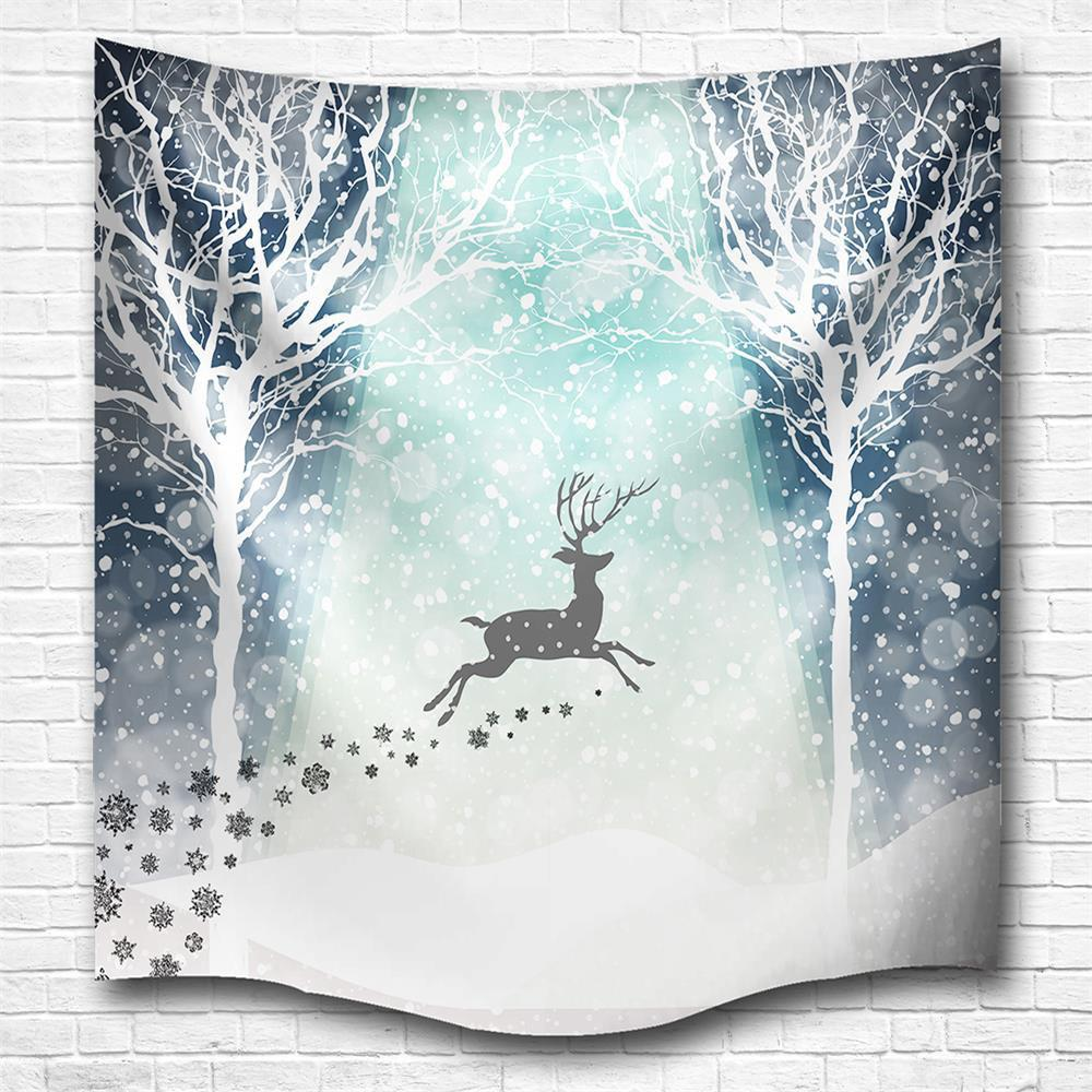 Shops Hakodate Reindeer 3D Digital Printing Home Wall Hanging Nature Art Fabric Tapestry for Bedroom Living Room Decorations