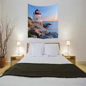 Sunset Tower 3D Digital Printing Home Wall Hanging Nature Art Fabric Tapestry for Bedroom Living Room Decorations -