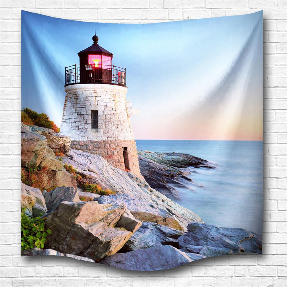Affordable Sunset Tower 3D Digital Printing Home Wall Hanging Nature Art Fabric Tapestry for Bedroom Living Room Decorations