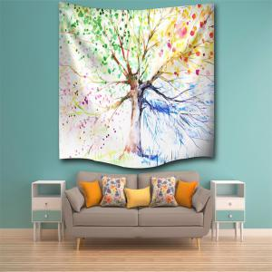 Multicolor Tree 3D Digital Printing Home Wall Hanging Nature Art Fabric Tapestry for Bedroom Living Room Decorations -