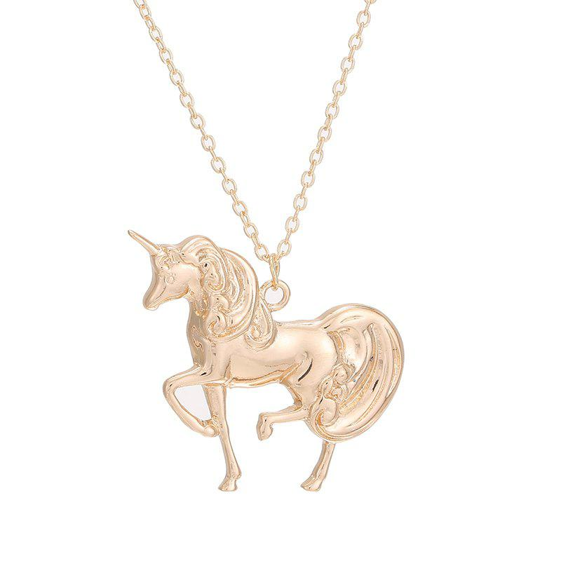 Hot Fashion Unicorn Pendant Necklace Simple Charm Birthday Gift for Woman