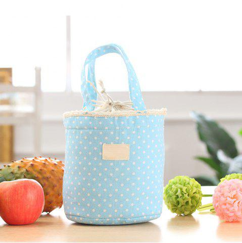 Sale Lunch Bag Likable Sweet Polka Dots Pattern Canvas Portable Bag
