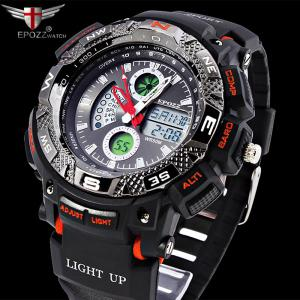 EPOZZ 1311 Men Digital Analog Waterproof Military Watch -