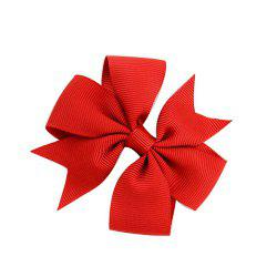 V-Ribbed Ribbon Bow Hairpin -