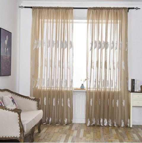 Fancy Home Feather Embroidery Thin Screens  Curtains