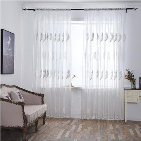 Online Home Feather Embroidery Thin Screens  Curtains