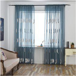 Home Feather Embroidery Thin Screens  Curtains -