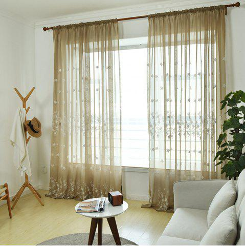 Shop Embroidery Small Floral Screens Curtains