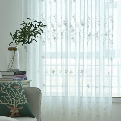 Unique Embroidery Small Floral Screens Curtains