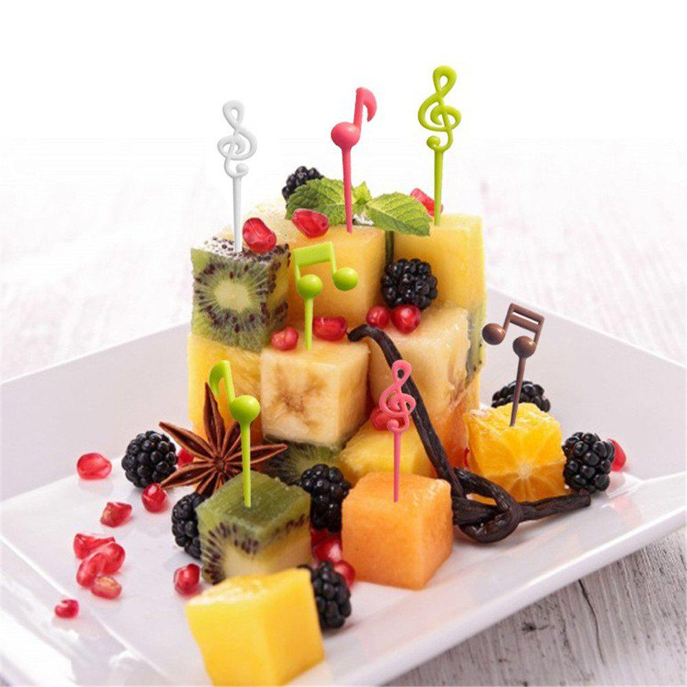 Outfit Best Selling Musical Notes Fruit Fork Fancy Children  Bento Decoration Sign 16PCS