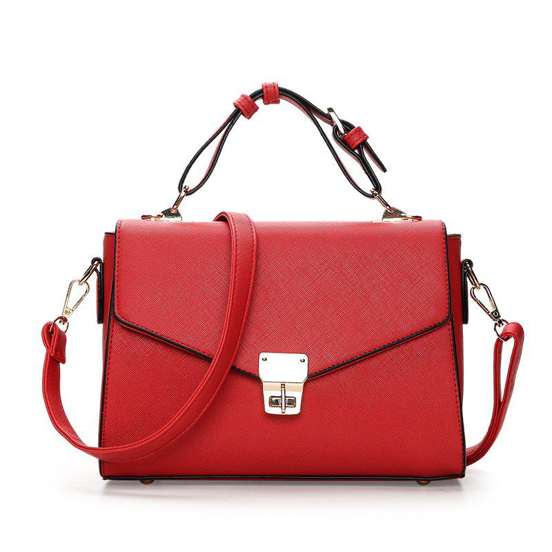 Cheap New Lady Lock Korean Fashion Portable Messenger Shoulder Small Square Bag