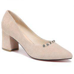 Thick and Pointed Toes Casual Shoes -
