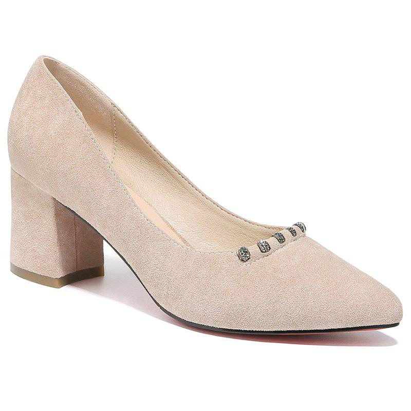 Shops Thick and Pointed Toes Casual Shoes