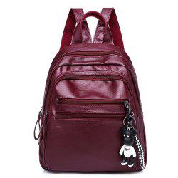 Fashion PU Soft Leather Wild Large Capacity Ladies Travel Backpack Tide -