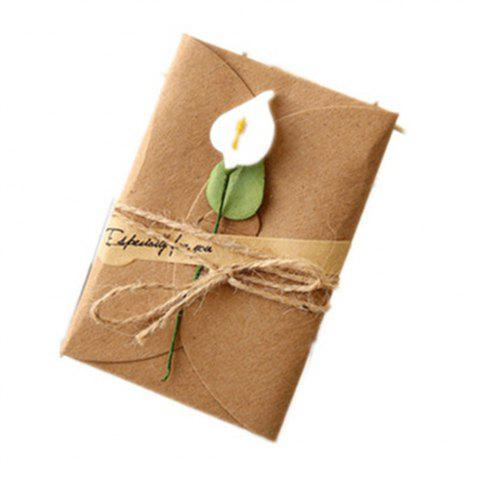 Shop Creative Kraft PaperDried Flowers Greeting Card Manual Small Florist Send Customer Holiday Wishes