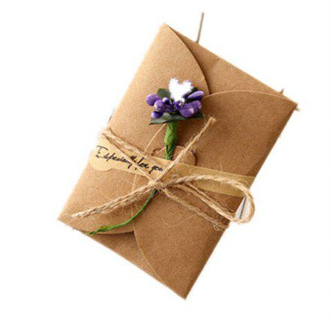 Latest Creative Kraft PaperDried Flowers Greeting Card Manual Small Florist Send Customer Holiday Wishes