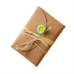 Creative Kraft PaperDried Flowers Greeting Card Manual Small Florist Send Customer Holiday Wishes -
