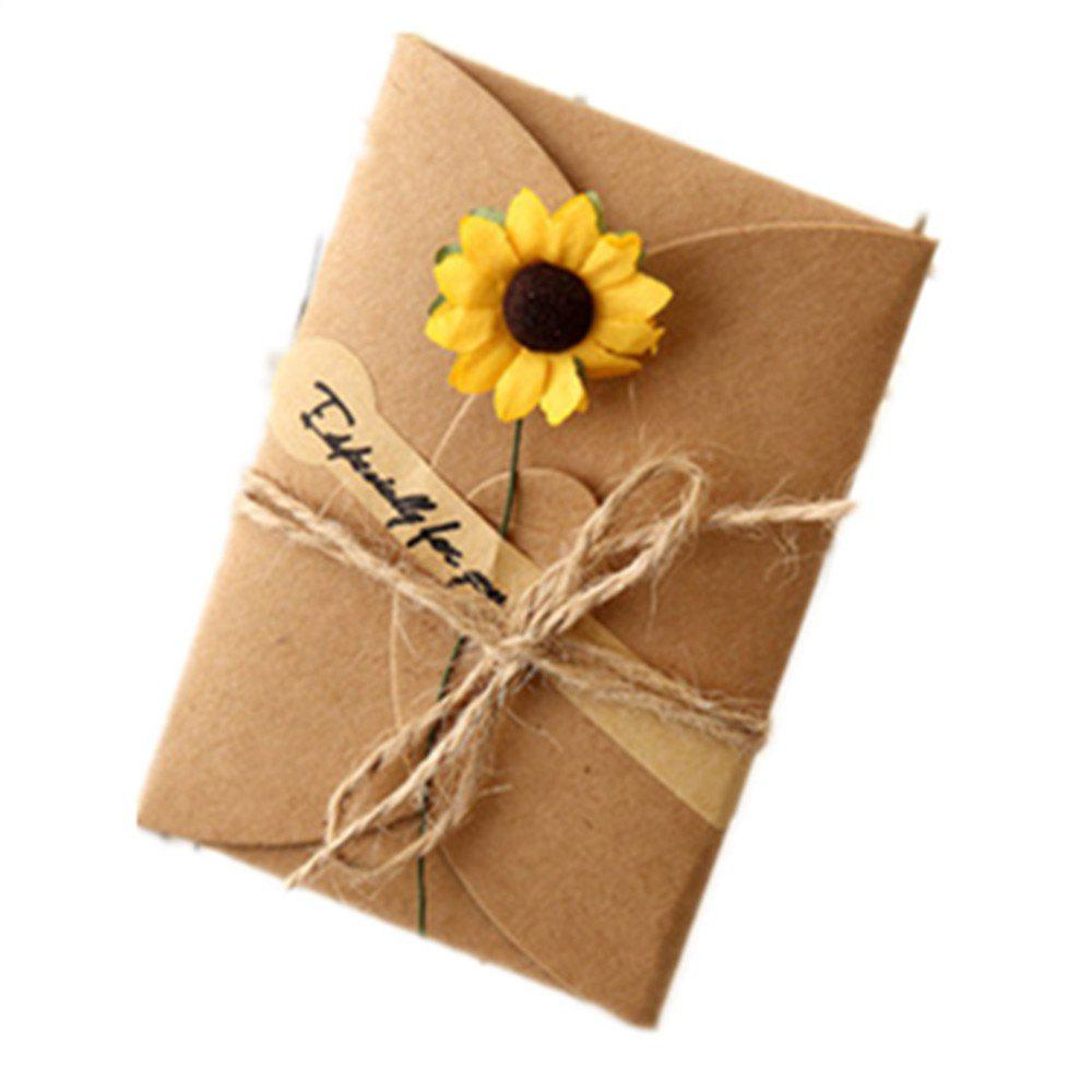 Hot Creative Kraft PaperDried Flowers Greeting Card Manual Small Florist Send Customer Holiday Wishes