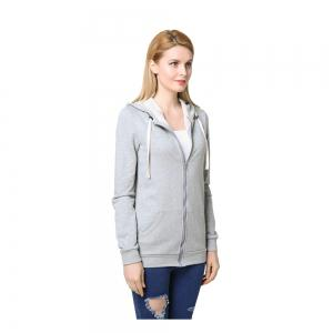 Women's Elastic Cuffs Long Sleeve Slim Hoodie -