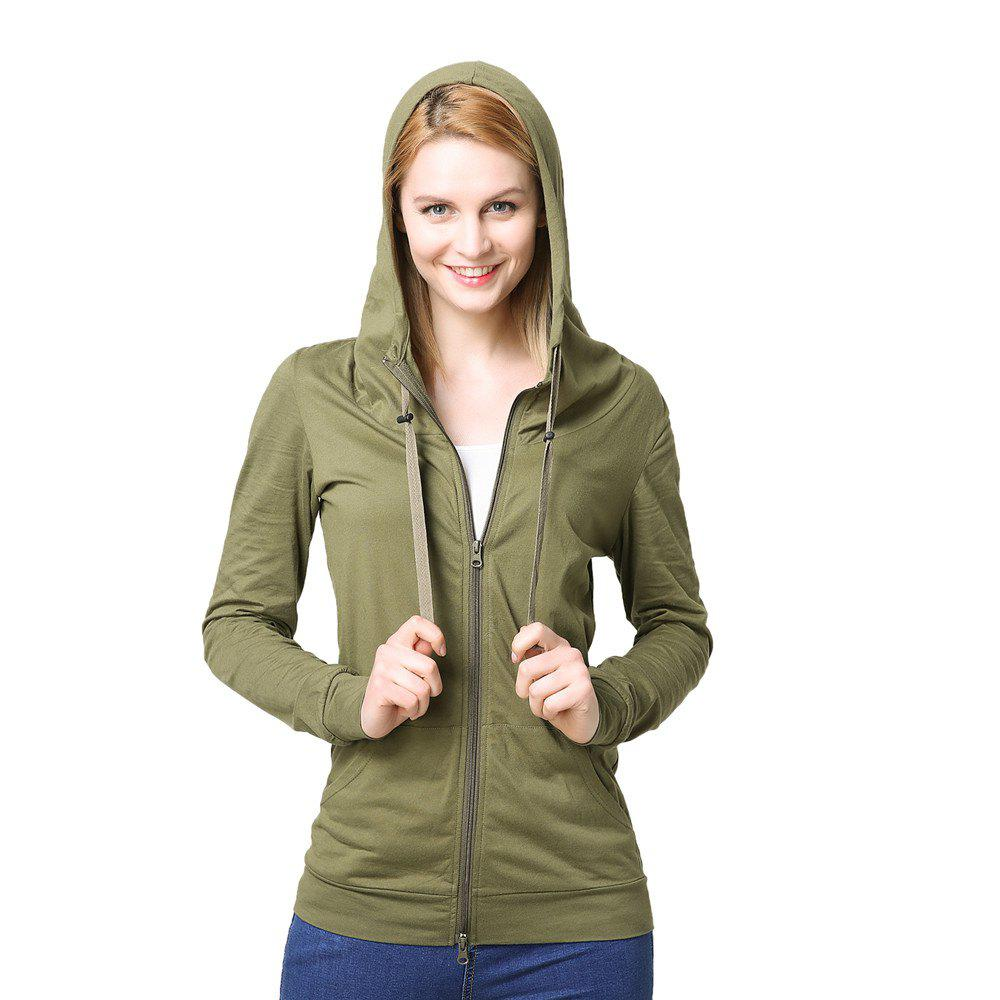 Store Women's Elastic Cuffs Long Sleeve Slim Hoodie