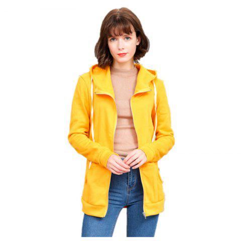 Store Women's Solid Color All Match Slim Hoodie